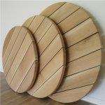 Tischplatte massivholz rund  Holz Tischplatte rund bis 200cm, auch Individuell angefertigt ...