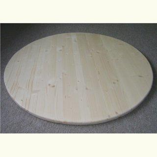Rund Tischplatte 27mm 3 Schicht Naturholz Fichte O 80cm