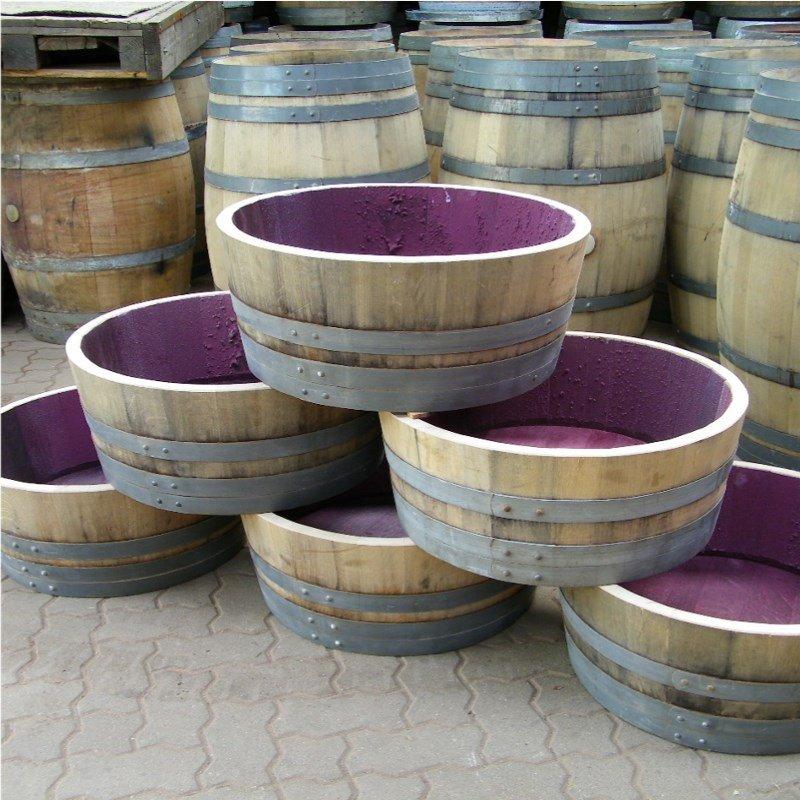 Weinfass Holzfass 1//4  Fassabschnitt  Fass Regentonne