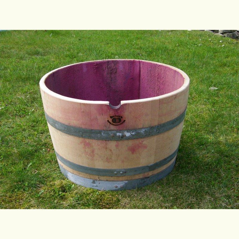 110L Weinfass aus Eichenholz Pflanzkübel Blumenkübel mit Griffen und Füße