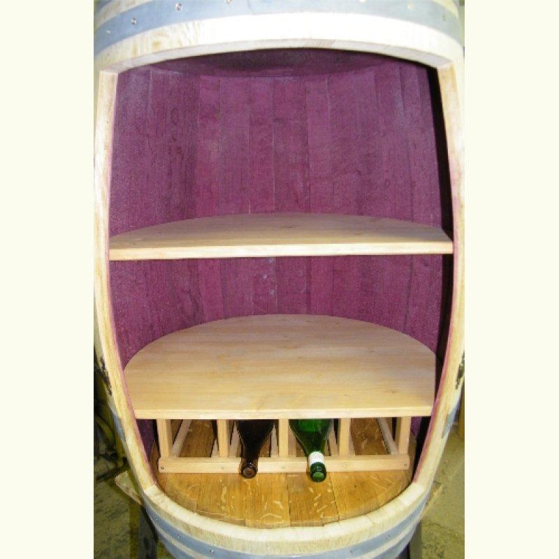weinfass barfass mit weinregal f r 4 flaschen escher 39 s. Black Bedroom Furniture Sets. Home Design Ideas