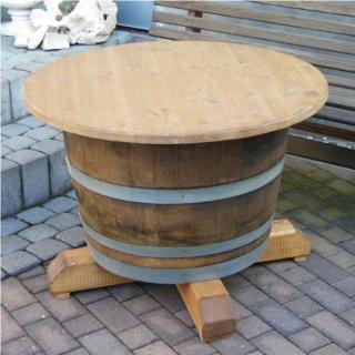 Tisch Weinfass Holz.Andreas Escher