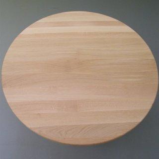 Tischplatte eiche  Runde Tischplatte aus 25mm Eichenholz, Ø 90cm - Escher's Fassmöbel ...