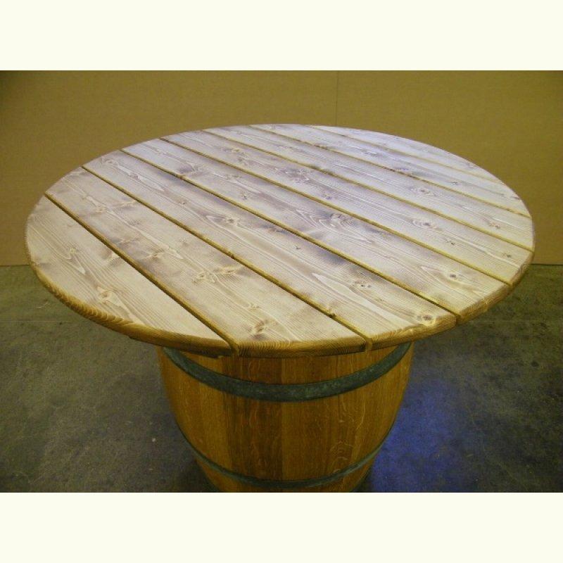 Runde Tischplatte Aus Eichenholz 45mm Stark Eschers Fassmöbel