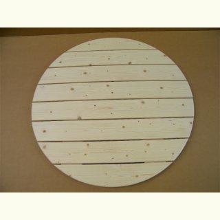 Rund Tischplatte 80 100cm Echtholz Massiv Fichte